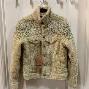 Lucky Brand Womens Tomboy Ivory Winter Sherpa Jean